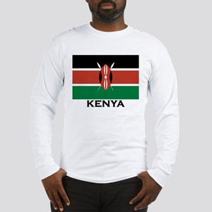Kenya Flag Merchandise Long Sleeve T-Shirt
